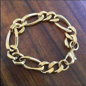 Jewelry - Gold Plated Stainless Steel Chain Link Bracelet